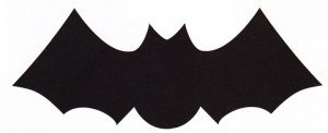 halloween craft bat template