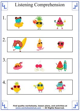 kindergarten worksheet 1