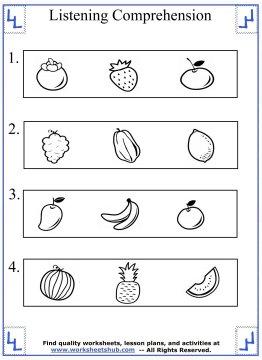 kindergarten worksheet 2