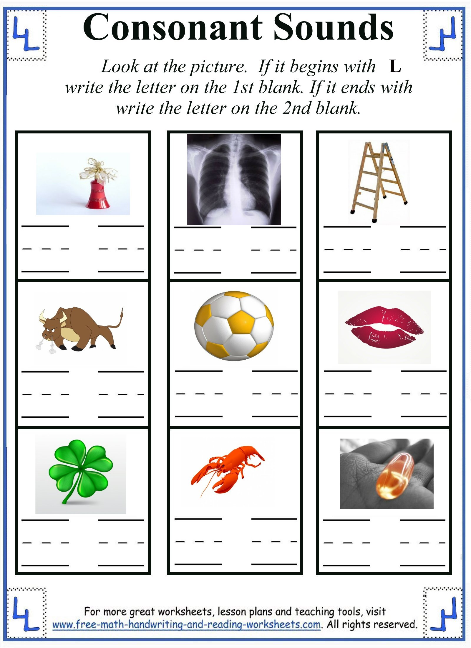 l letter worksheets