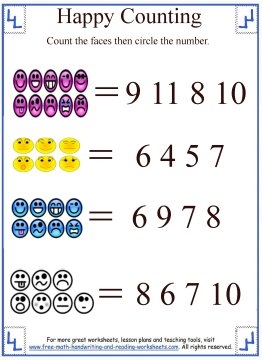 learn-to-count-07 Counting Worksheets With Objects on for pre, numbers classroom, free printable, writing numbers,