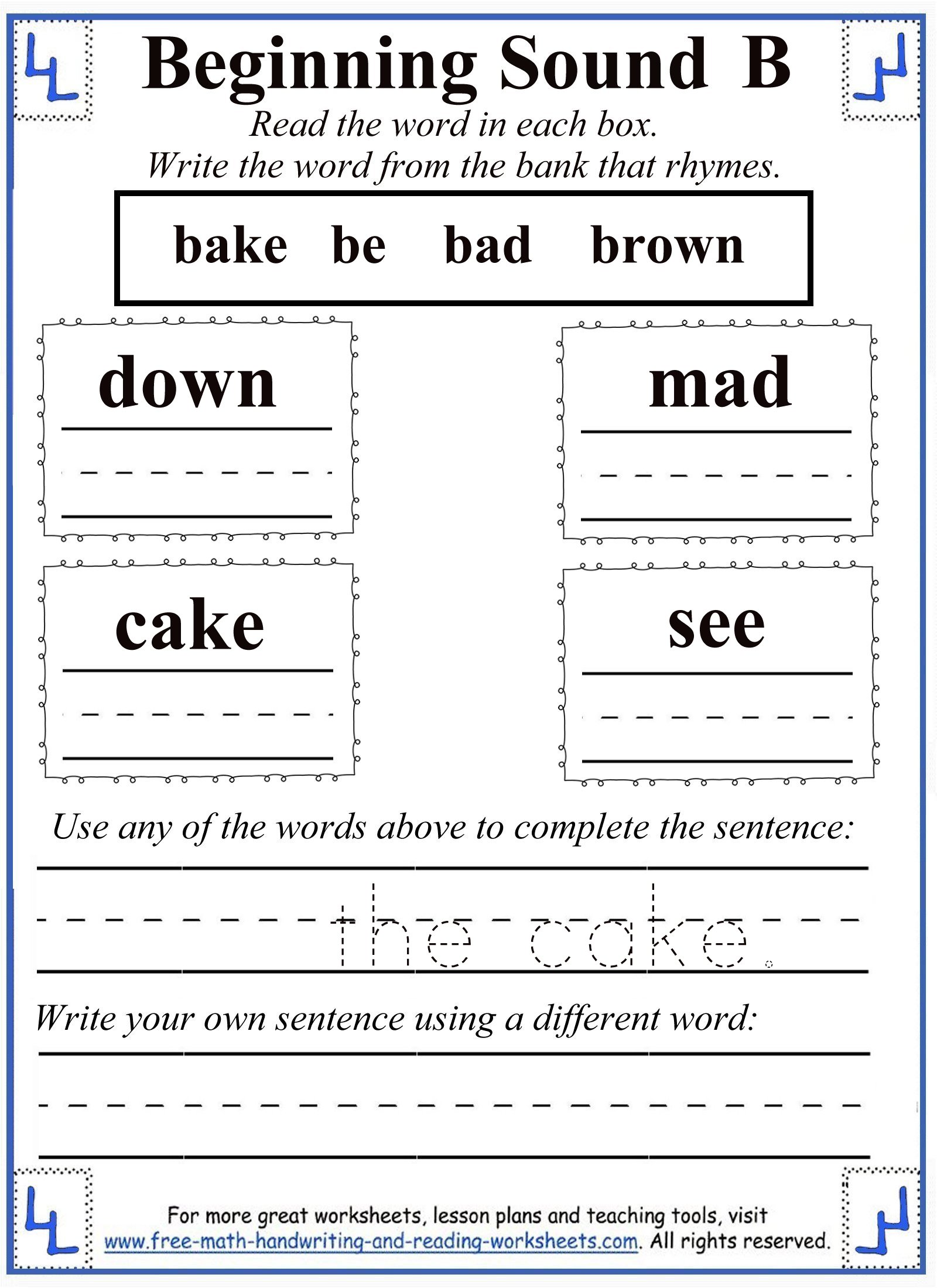 worksheet Letter B Worksheets For Preschool letter b worksheets 5