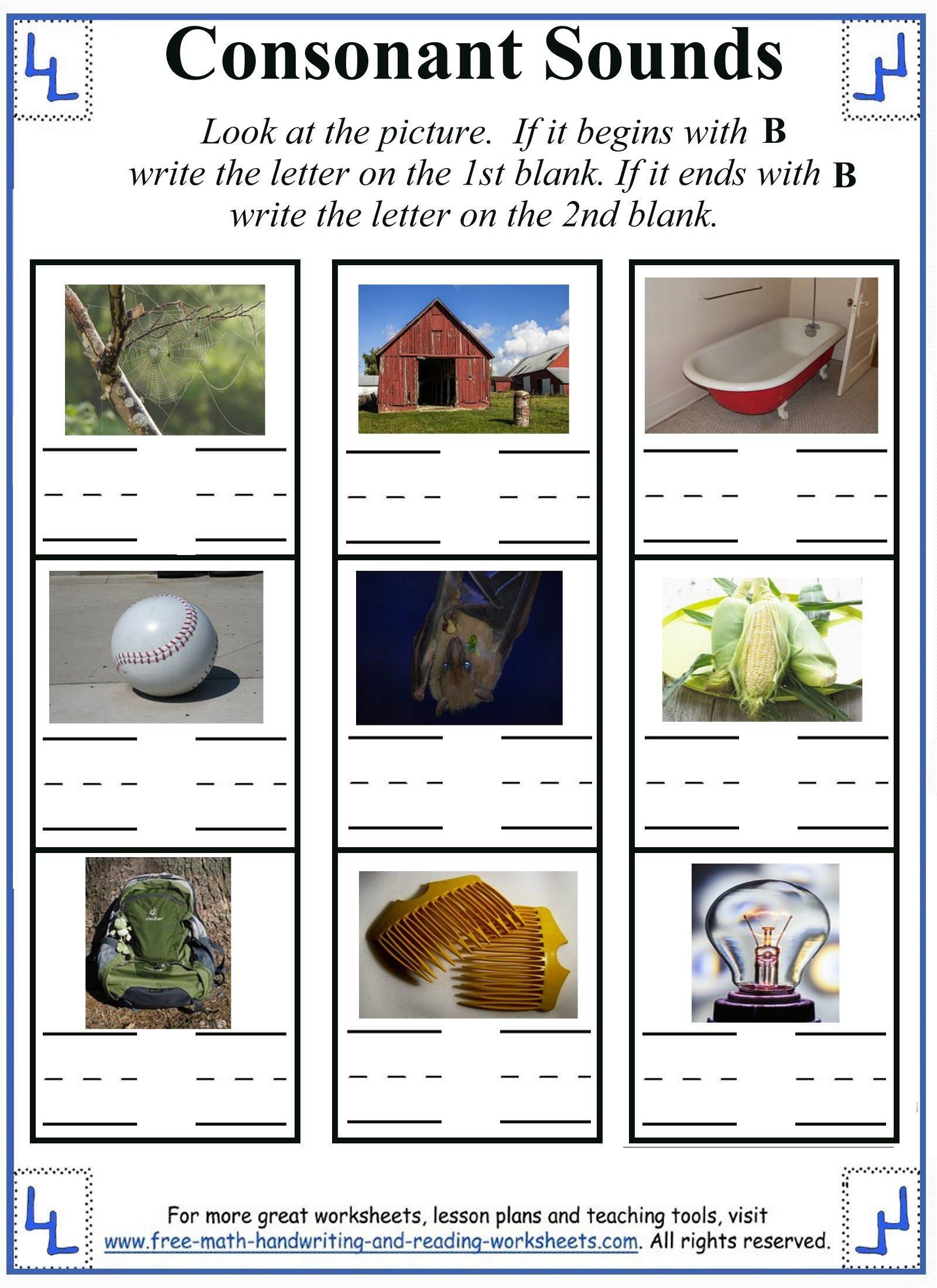 letter b worksheets 3