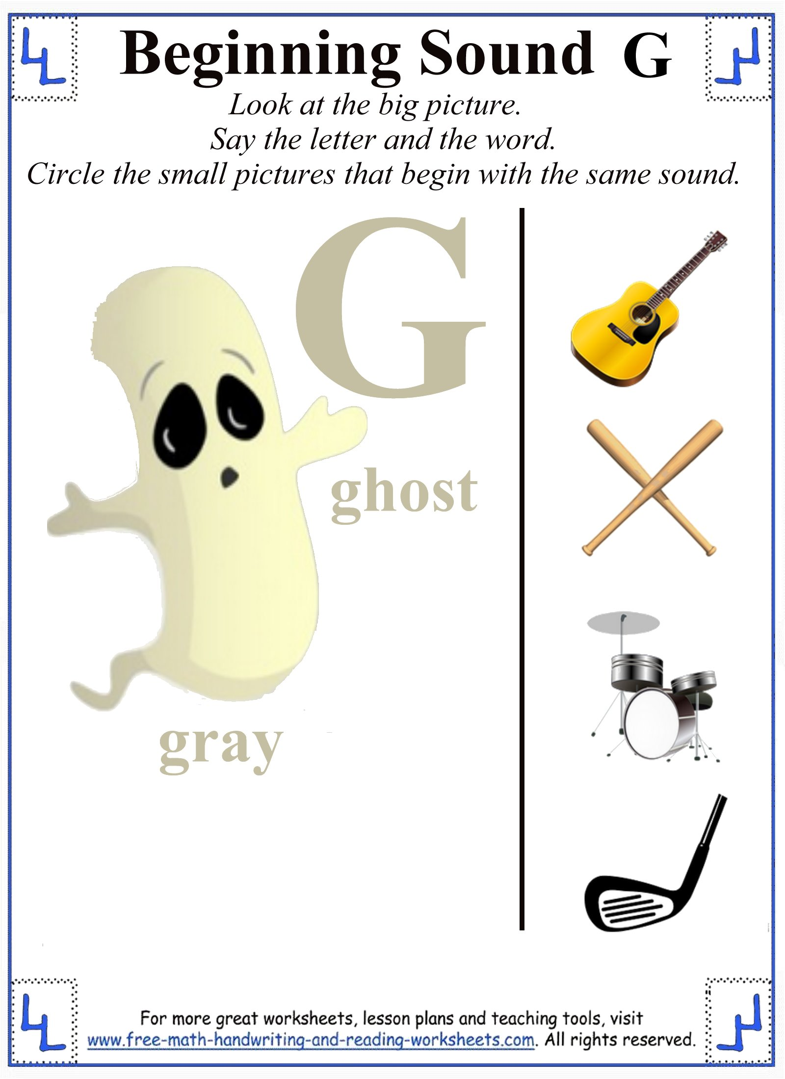 worksheet Letter G Worksheets For Preschoolers letter g worksheet activities