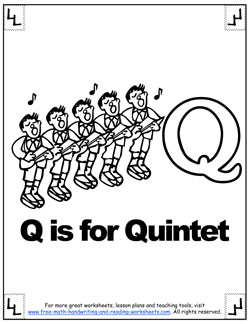 letter q coloring sheet