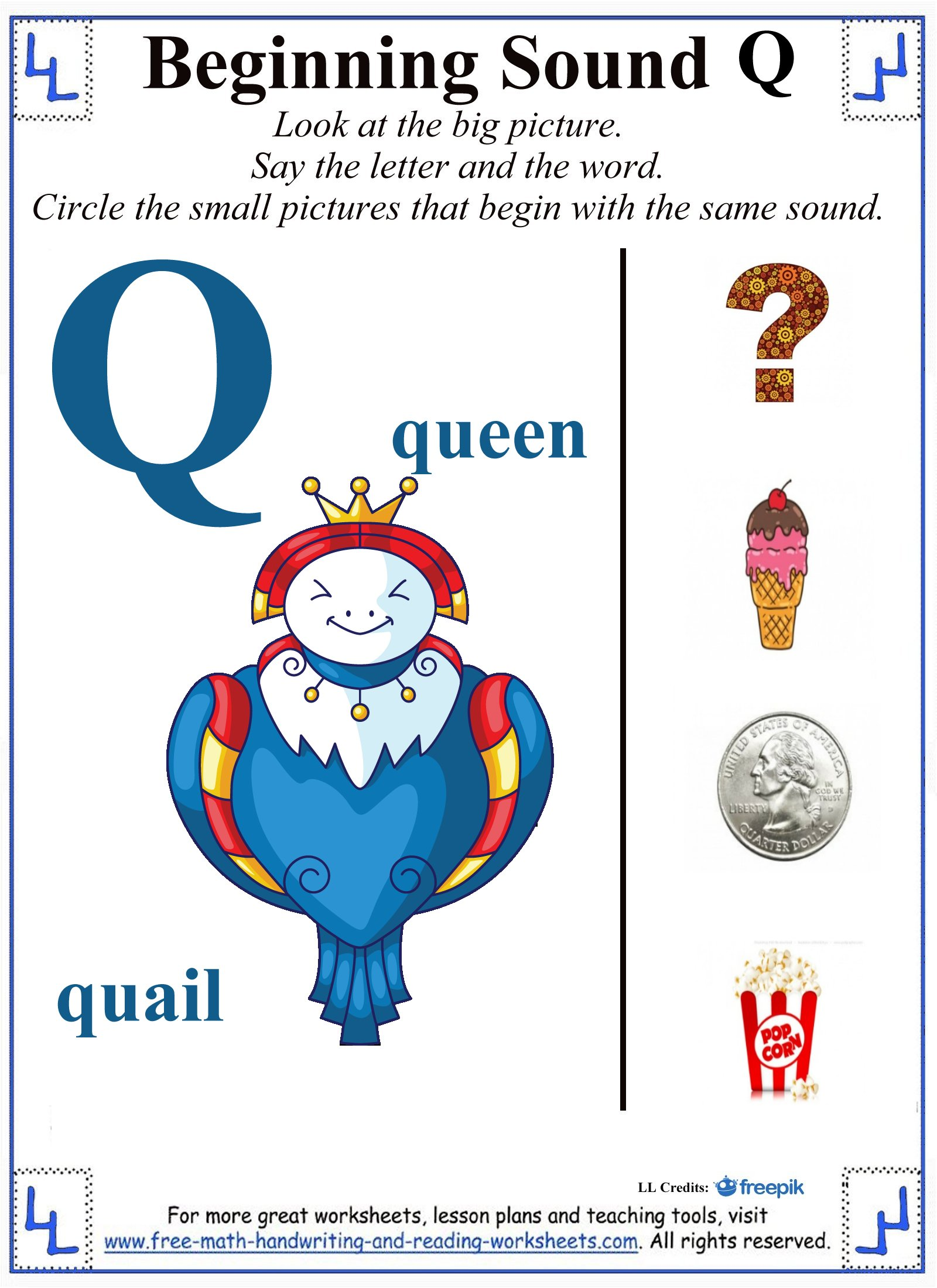 letter q worksheets 1