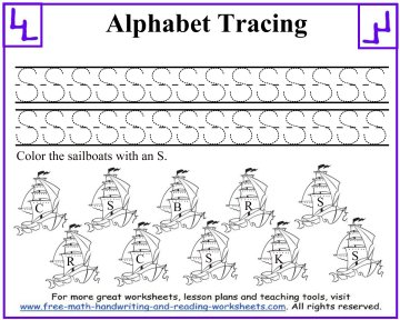 letter tracing 1