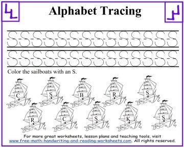Letter A Tracer Worksheets.Letter Tracing Worksheets Uppercase S Z