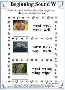 letter w worksheet 3