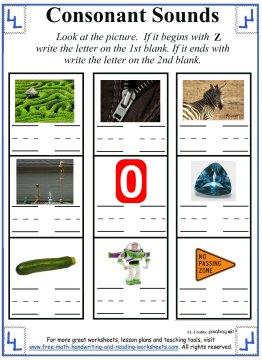 letter z worksheets 3