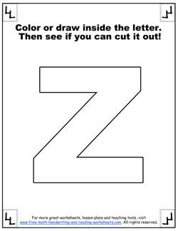 letter z worksheets 6