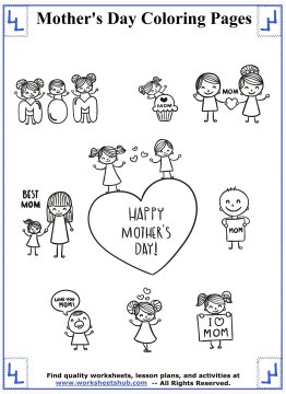 mothers day coloring pages 1