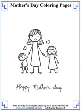 mothers day coloring pages 4