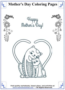 mothers day coloring pages 5