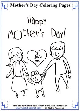 mothers day coloring pages 6