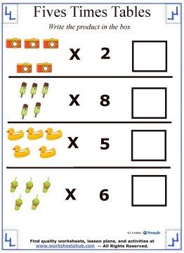 multiplication tables 5