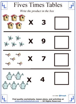 multiplication tables 6