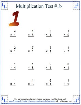 multiplication test 1