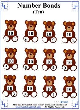 Number Bonds to 10 Worksheet 1
