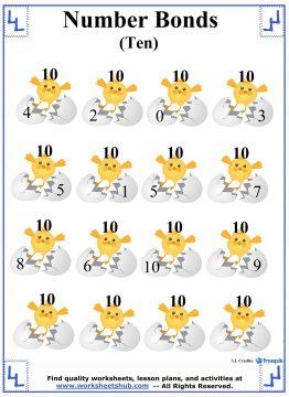 Number Bonds to 10 Worksheet 3