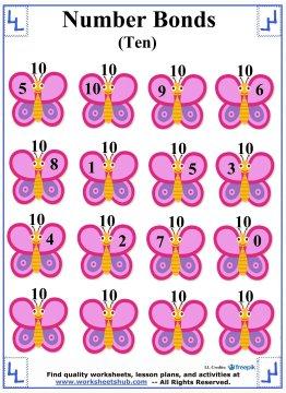 Number Bonds to 10 Worksheet 5