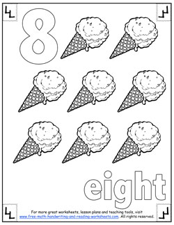 below for more numbers worksheets, coloring pages, and counting games ...