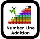 number line addition worksheets