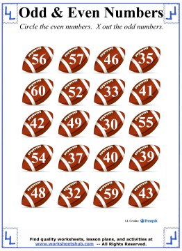 Number Names Worksheets even and odd numbers worksheet : Odd and Even Numbers - 1st Grade Math Worksheets