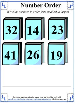 number order with books