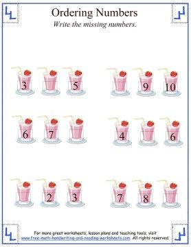 ordering numbers 1