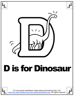 d is for dinosaur phonetic coloring