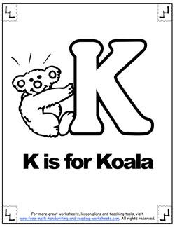 phonetic k alphabet worksheet