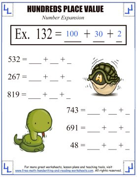 Place Value Activities - Hundreds Place Worksheets