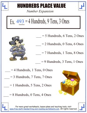 Number Names Worksheets place value and value worksheets : Place Value Activities - Hundreds Place Worksheets
