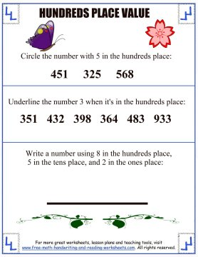 place value activities 1