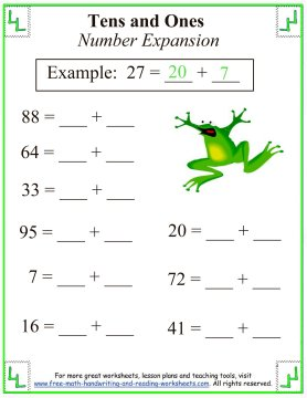 Place Value Worksheets place value worksheets for 1st graders : Place Values:Tens & Ones Worksheets