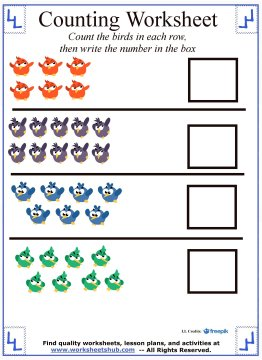 preschool counting 5