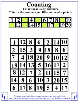 preschool counting 1