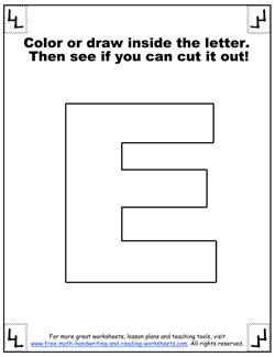 printable alphabet letters e