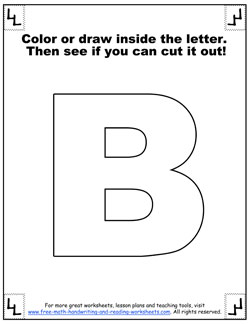 Printable Alphabet Letters - Giant Block Letters