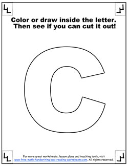 photograph about Printable Letter C referred to as Printable Alphabet Letters - Large Block Letters