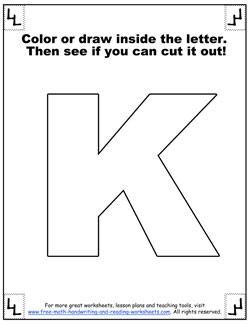 Printable Alphabet Letters K