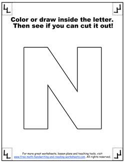 printable alphabet letters n