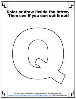 printable alphabet letters q