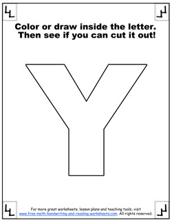 picture regarding Printable Letter Y known as Printable Alphabet Letters - Big Block Letters