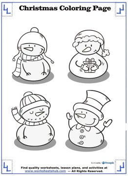printable christmas coloring pages 15