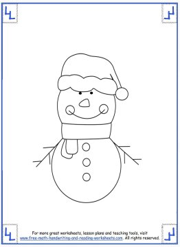 printable christmas coloring pages 4