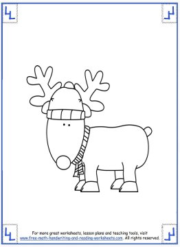 printable christmas coloring pages 9