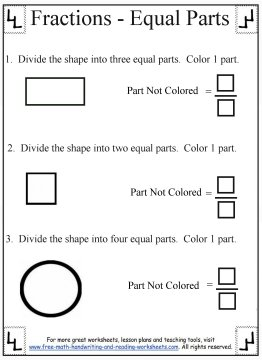 printable fraction worksheets 3
