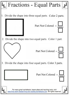 printable fraction worksheets 4
